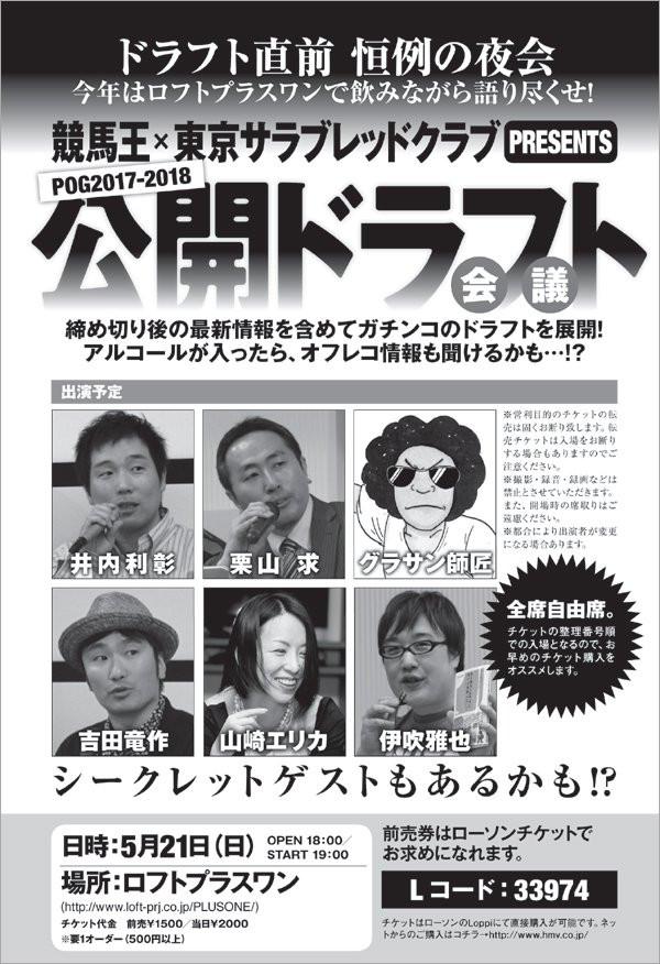 競馬王POG公開ドラフト会議