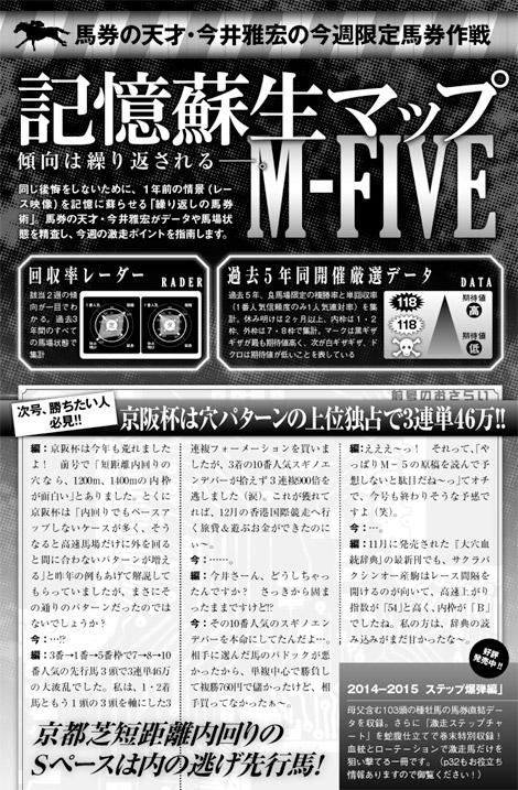 _馬券の天才・今井雅宏による今週末限定馬券作戦『記憶蘇生マップ M-FIVE』