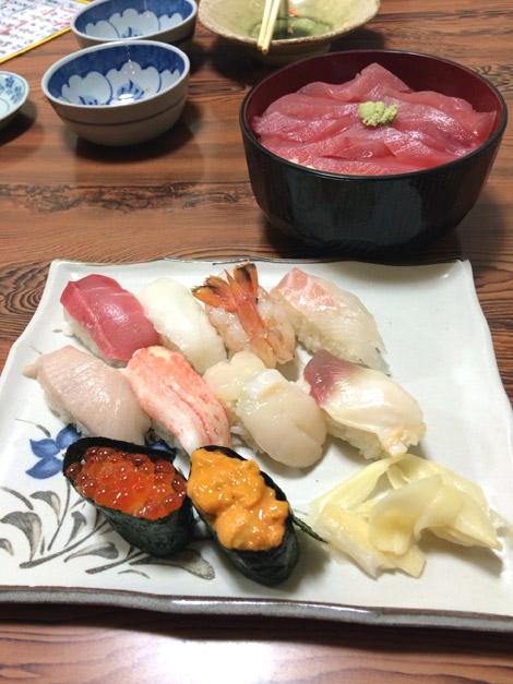 千歳のリーズナブルなお寿司屋さんの特上にぎり